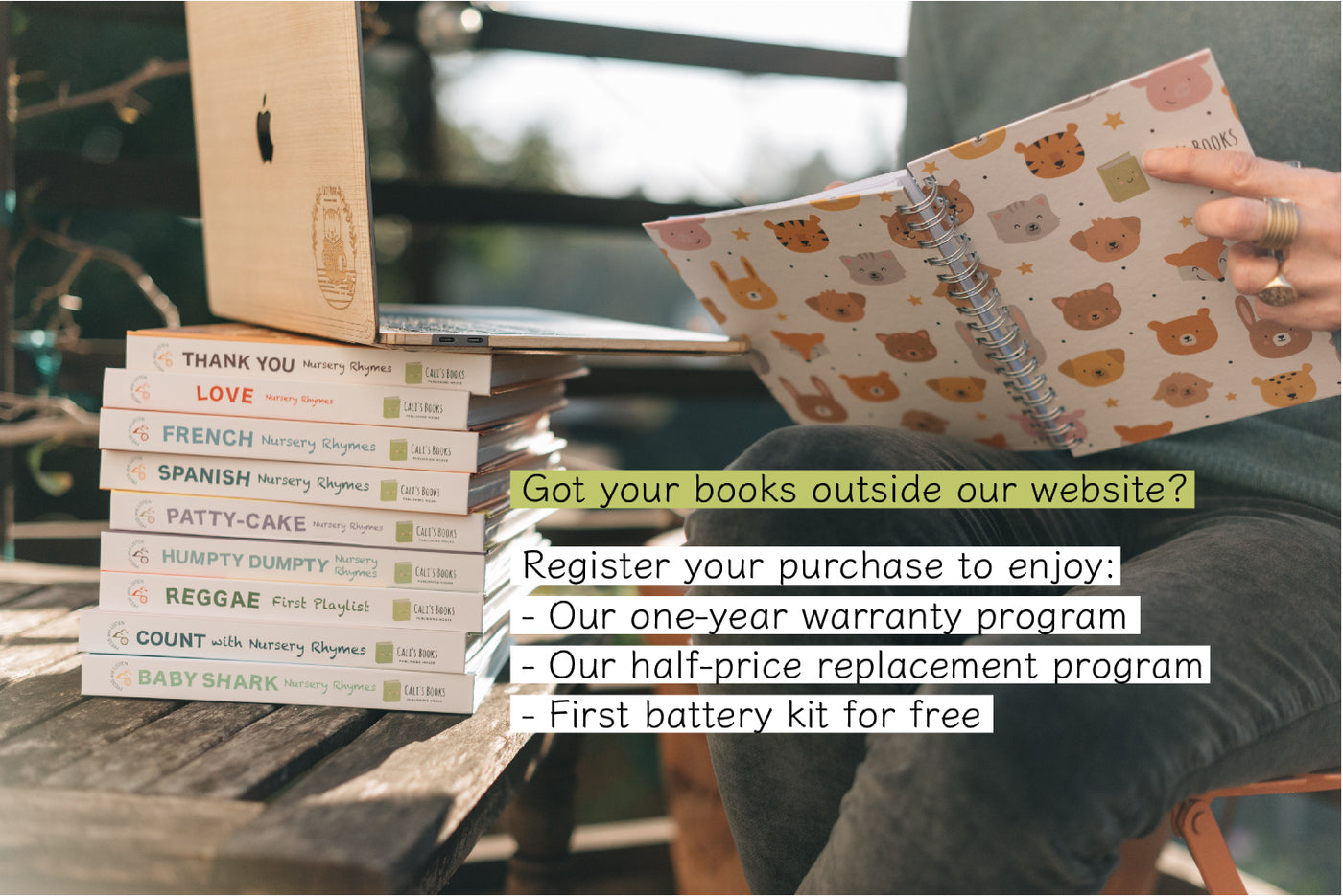 resgister your book to get one year warranty