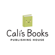 cali's books logo - book smiling