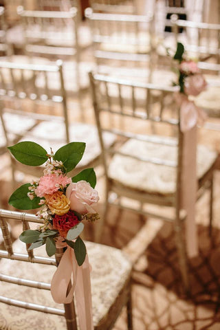 Aisle Posies for Solemnization on Tiffany Chairs