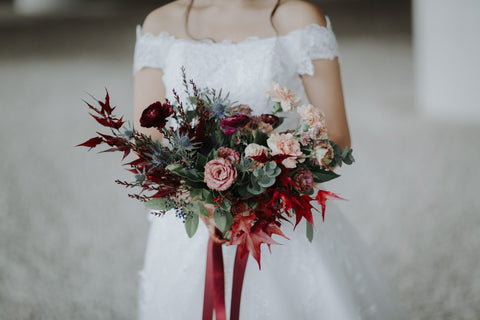 Dark and Moody Bridal Bouquet