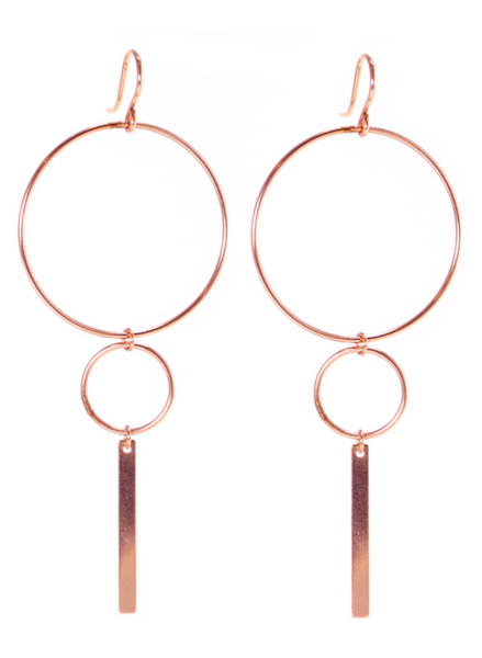 BELLA EARRINGS IN ROSE GOLD