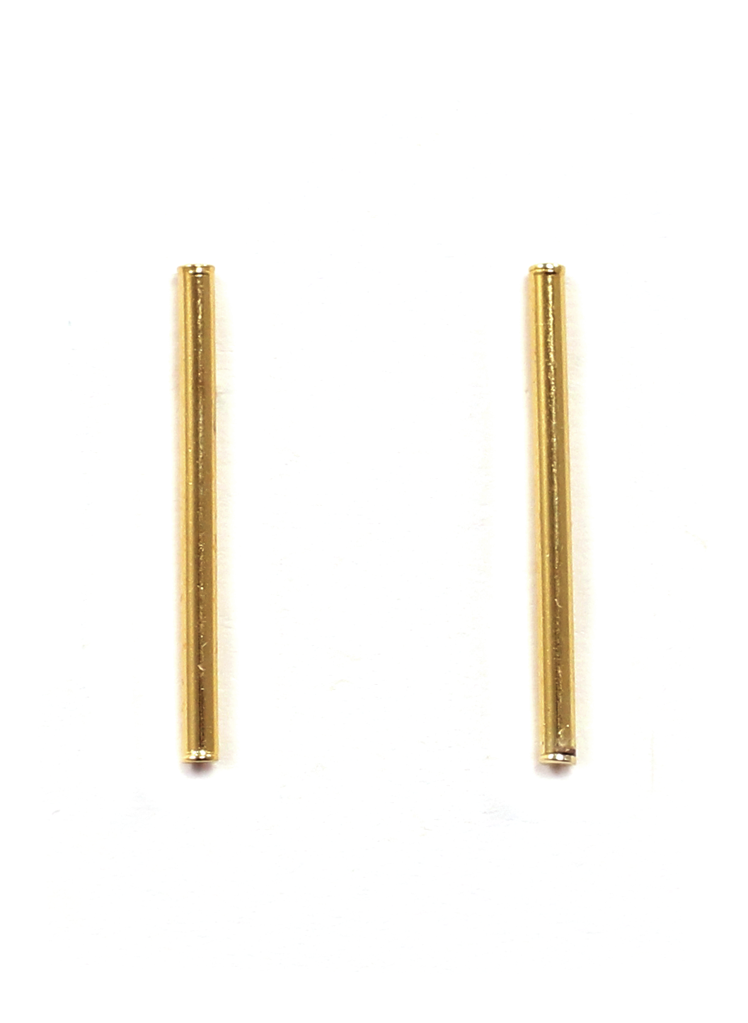 LONG BAR EARRINGS IN GOLD
