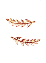LEAF EAR CLIMBER IN ROSE GOLD