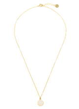 WHITE DRUZY PENDENT NECKLACE IN GOLD