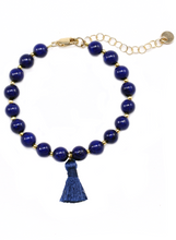 NICA BRACELET IN LAPIS LAZULI | Maria Kamara: ethical gold jewelry, artisan gold jewelry, ethically sourced jewelry