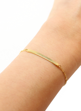 TEXTURED BAR BRACELET IN GOLD | Maria Kamara: artisan jewelry store, ethical bracelets, handmade sterling silver bracelets, handcrafted beaded jewelry