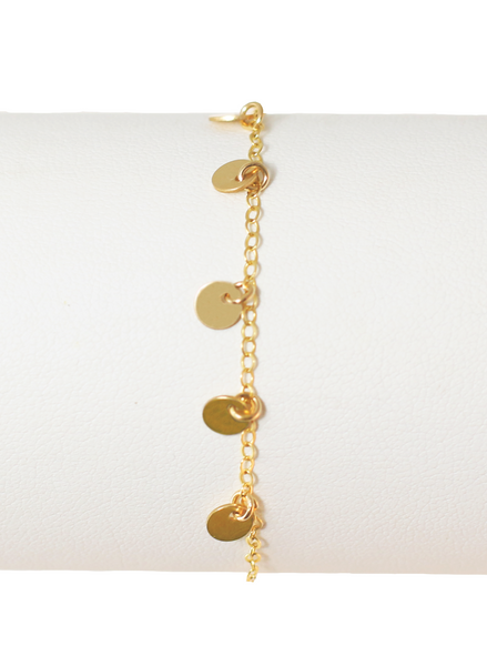 MINI DISC BRACELET IN GOLD | Maria Kamara: ethical gold jewelry, artisan gold jewelry, ethically sourced jewelry