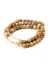 TRINITY BRACELET IN EARTH JASPER | Maria Kamara: ethical gold jewelry, artisan gold jewelry, ethically sourced jewelry