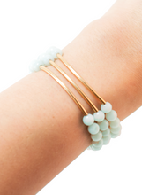 TRINITY BRACELET IN AMAZONITE | Maria Kamara: artisan jewelry store, ethical bracelets, handmade sterling silver bracelets, handcrafted beaded jewelry