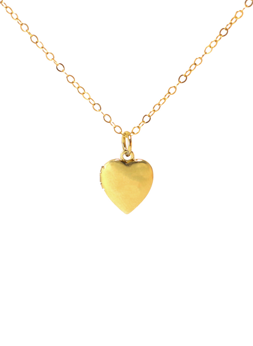 SWEETHEART LOCKET NECKLACE IN GOLD | Maria Kamara: handcrafted designer necklaces, american handmade jewelry, handmade boutique jewelry, handcrafted fashion necklaces