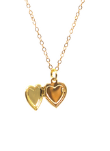 SWEETHEART LOCKET NECKLACE IN GOLD