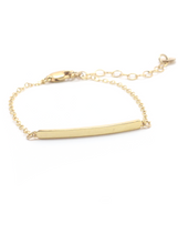 TEXTURED BAR BRACELET IN GOLD | Maria Kamara: ethical gold jewelry, artisan gold jewelry, ethically sourced jewelry