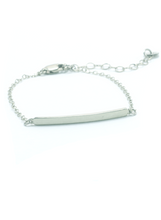 TEXTURED BAR BRACELET IN SILVER
