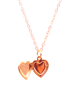 SWEETHEART LOCKET NECKLACE IN ROSE GOLD | Maria Kamara: handmade sterling silver jewelry, designer handmade necklaces, ethically sourced necklaces, ethical necklaces