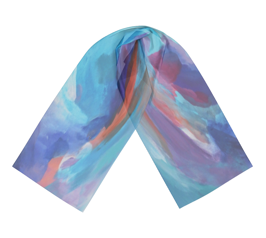 Belief - Satin Charmeuse Long Scarf