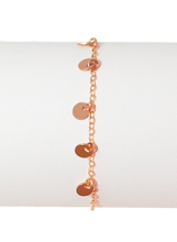 MINI DISC BRACELET IN ROSE GOLD | Maria Kamara: ethical gold jewelry, artisan gold jewelry, ethically sourced jewelry