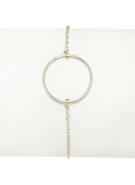 CIRCLET BRACELET IN SILVER | Maria Kamara: ethical gold jewelry, artisan gold jewelry, ethically sourced jewelry