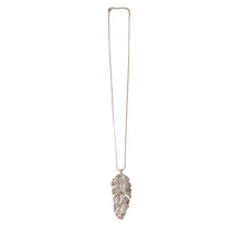 Tattered Rhinestone Leaf Necklace