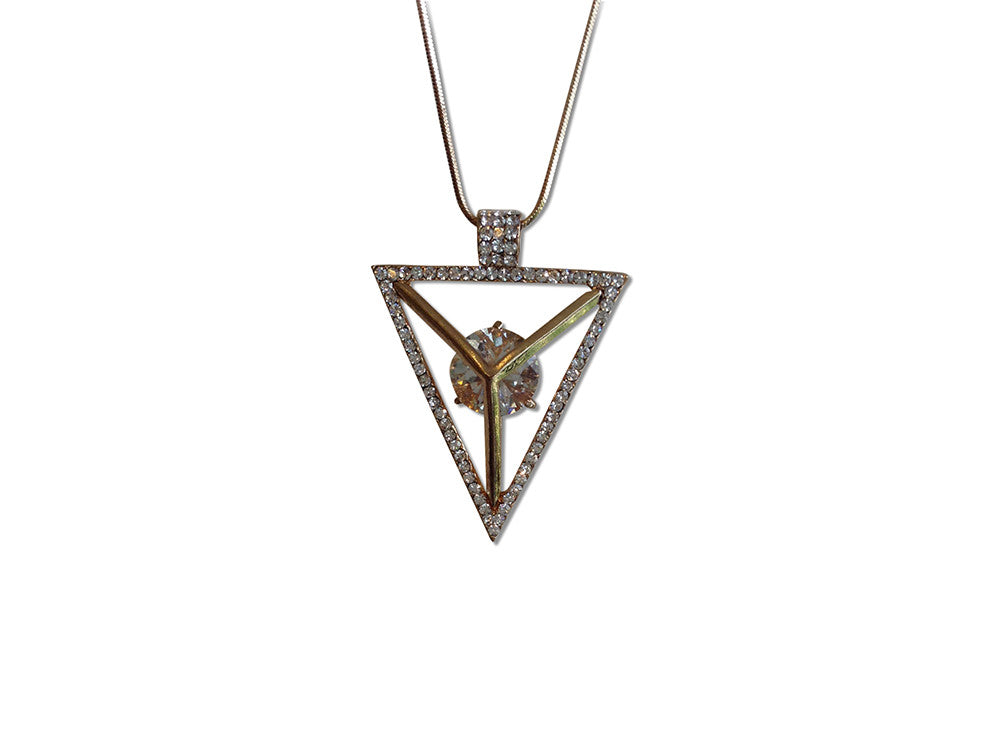 Rhinestone Pyramid Necklace