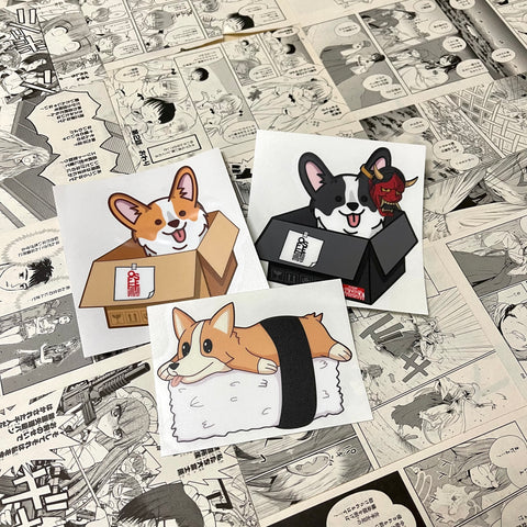 CORGI BOX STICKER