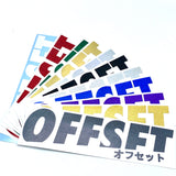 OFFSET LOGO STICKER