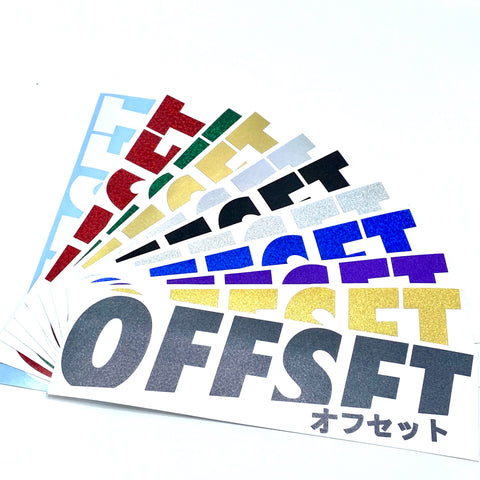 OFFSET LOGO DECAL