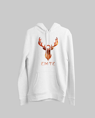 STAG AMBER HOODIE WHITE