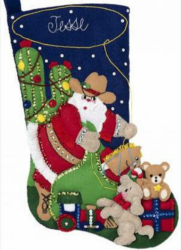 Bucilla Christmas Round Up Felt Stocking Kit