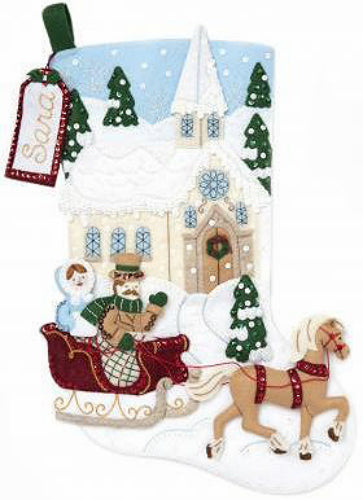 Bucilla Dashing Through the Snow Felt Stocking Kit