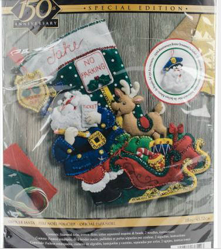 Bucilla Officer Santa Felt Stocking Kit with Ornament