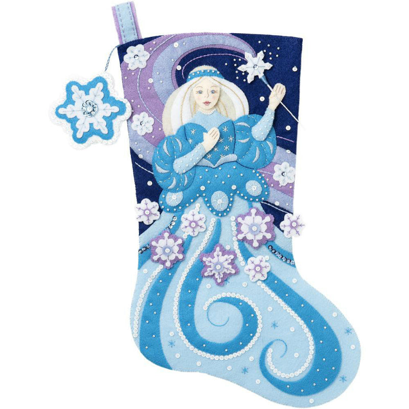 Bucilla Snow Princess Felt Stocking Kit