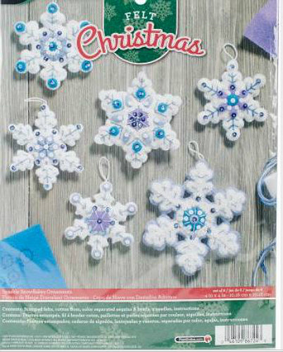 Bucilla Sparkle Snowflake Felt Ornament Kit