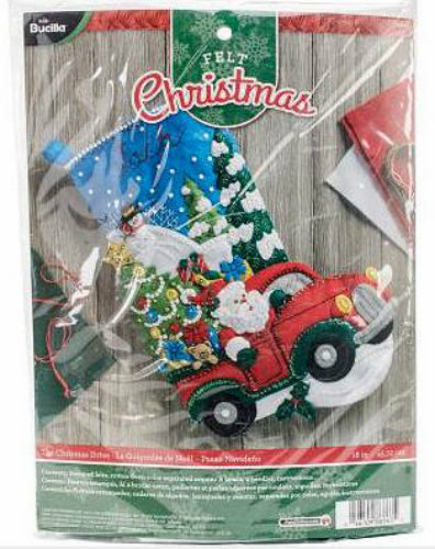 Bucilla The Christmas Drive Felt Stocking Kit