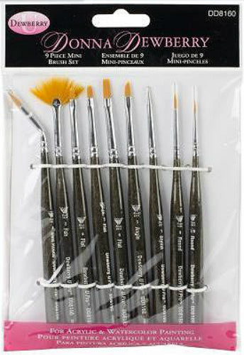 Donna Dewberry Set of 9 Paintbrushes