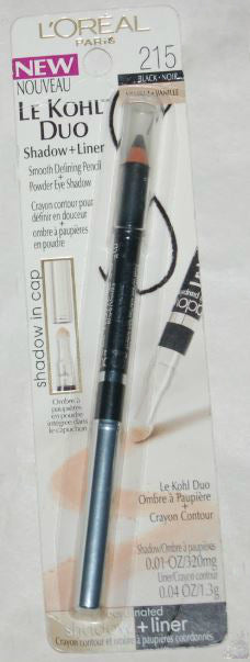 L'Oreal Le Kohl Duo Eyeliner Shadow Black and Vanilla 215