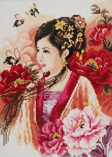 Vervaco Lanarte Diamond Painting Kit Asian Lady in Pink