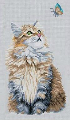 Vervaco Lanarte Diamond Painting Kit Forest Cat