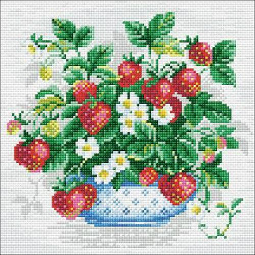 Riolis Diamond Painting Kit Basket of Strawberries