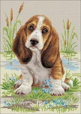 Riolis Diamond Painting Kit Basset Hound
