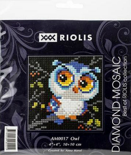 Riolis Diamond Painting Kit Owl