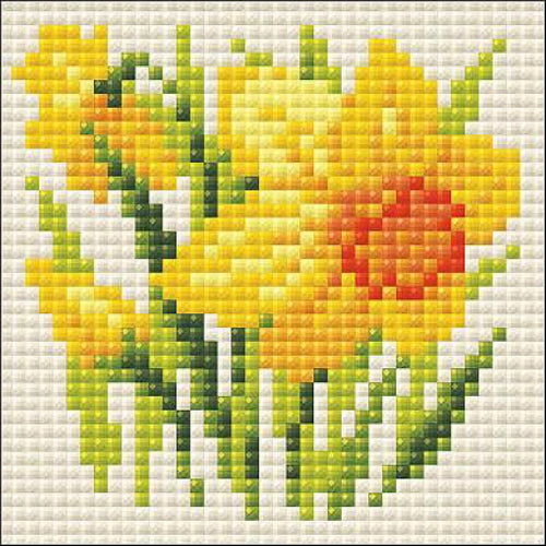 Riolis Diamond Painting Kit Yellow Narcissus