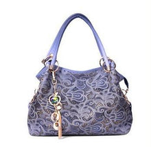 Ombre Lace Paisley Print Large Shoulder Bag