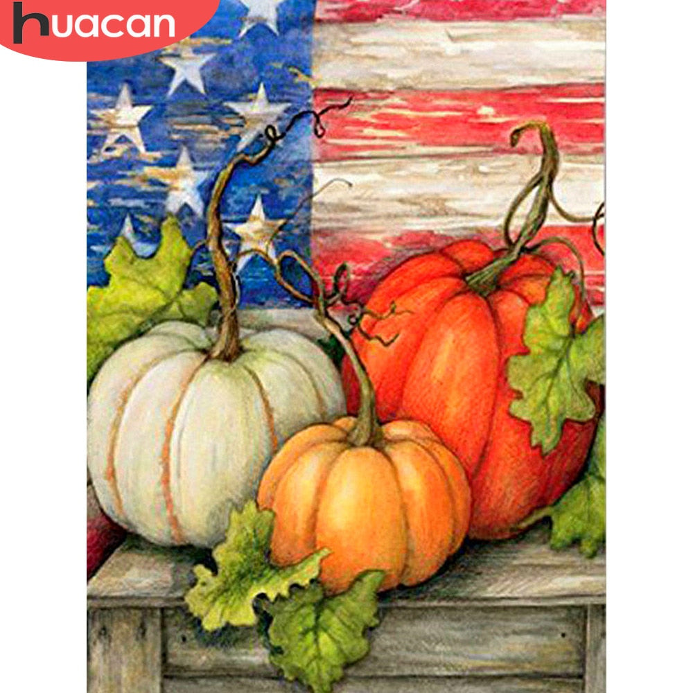 DIY Diamond Painting Country Pumpkins - craft kit