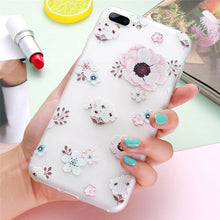 Kisscase 3D Relief Floral Silicone Phone Case For iPhone 7 8 Plus X XS XR Max Pro 11