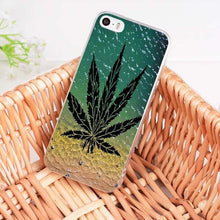 MaiYaCa Pot Leaves Images Apple iPhone Cell Phone Soft TPU Cases Model 5 to 11, 9 options