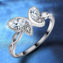 Beiver Silver Tone Butterfly CZ Wings Ring