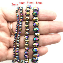 Glass Rondelle Spacer Beads 3mm to 8mm, Strand, 23 colors