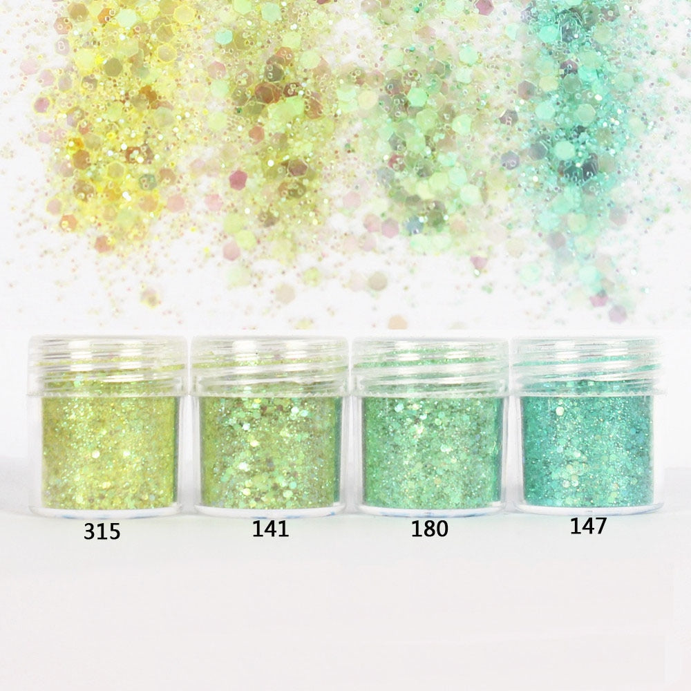 Sea Green Glitter Mix for Resin Crafts