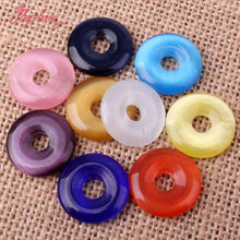 20mm Donut Cat's Eye Shimmer Bead