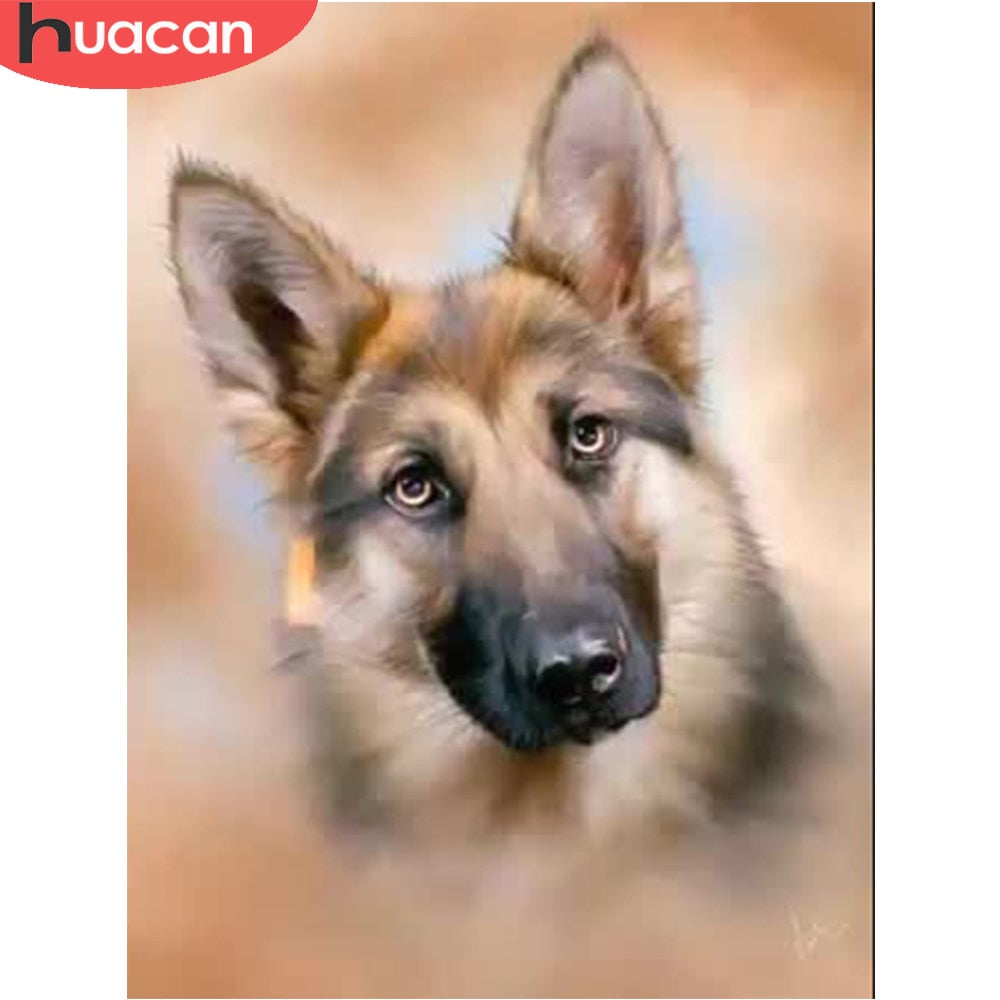 5D DIY Diamond Painting German Shepherd Head Drawing - craft kit